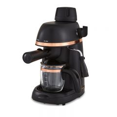 Tower T13014RG Cavaletto 800W 4 Cup Espresso Machine Black And Rose Gold
