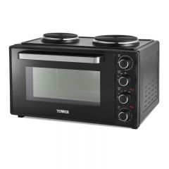 Tower T14045 42L Mini Oven With Hot Plates Black With Silver Accents