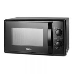 Tower T24034BLK 700W 20L Black Microwave Oven