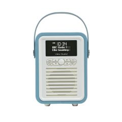 View Quest RETRO-MINI-BLUE DAB, Dab , FM Radio With Bluetooth