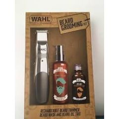 Wahl 9916-803 RECHARGEABLE TRIMMER, BEARD OIL WASH GIFT