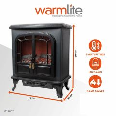 Warmlite WL46019 Stove Effect Fire 2Kw