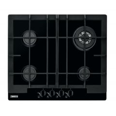 Zanussi ZGG66424BA Gas Hob With Wok Burner In Black Lpg Jets Included